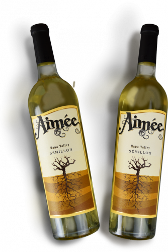 Two bottles of Aimee's Napa Valley Semillon