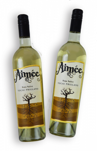 Two bottles of Aimee's Napa Valley Tocai Friulano.